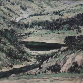 """26 Sun Jingbo, """"Go Back to the Miao's Village in the Dream"""", oil on canvas, 80 x 100 cm, 2000"""