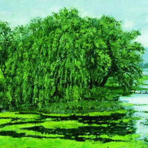 "31 Sun Jingbo, ""Bank of Tien Lake in Kunming"", 60 x 90 cm, 2005"