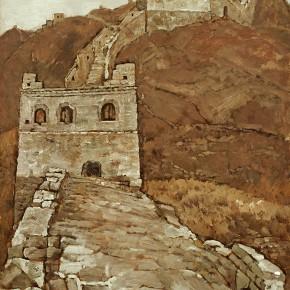 "33 Sun Jingbo, ""Jinshanling Great Wall"", 79 x 53 cm, 1986"