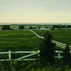 """43 Sun Jingbo, """"Canada Pasture in a Summer Day"""", oil on canvas, 60 x 90 cm, 1998"""