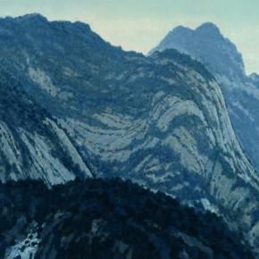 "46 Sun Jingbo, ""Hua Mountain after the Rain"", oil on canvas, 180 x 180 cm, 2008"
