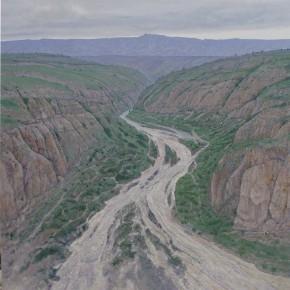 """49 Sun Jingbo, """"The Dry Riverbed"""", 200 x 200 cm, 2012"""
