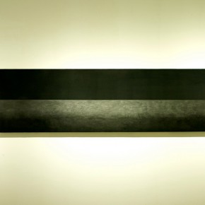 """53 Liu Dixian """"A Horizontal Line"""" pencil carbon black on paper 200 x 60 cm 2014 290x290 - New Generation of Abstract Art - Sishang Art Museum Experimental Plan in the Third Round Opened"""