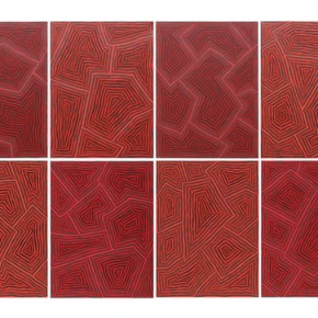 """55 Liao Jianhua """"Thinking About Emptiness"""" 1216 acrylic on canvas 90 x 310 cm 2012 290x290 - New Generation of Abstract Art - Sishang Art Museum Experimental Plan in the Third Round Opened"""