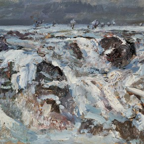 """56 Sun Jingbo, """"Northern Snowfield"""", 21 x 30 cm, 1994"""