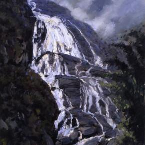 """58 Sun Jingbo, """"Ailao Mountain Waterfall"""", oil on canvas, 80 x 60 cm, 2011"""