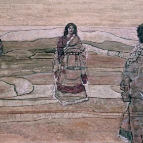 "69 Sun Jingbo, ""The Lost Memory"", oil painting, 80 x 115 cm, 1984"