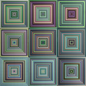 "77 Dai Dandan ""Repeat"" fabric 360 x 600 cm 2014  290x290 - New Generation of Abstract Art - Sishang Art Museum Experimental Plan in the Third Round Opened"