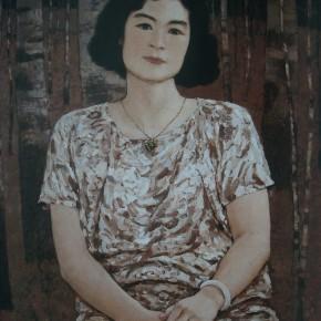 "82 Sun Jingbo, ""Portrait of Meijuan"", 80 x 60 cm, 1997"