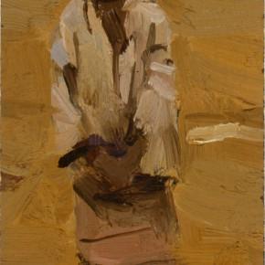 """94 Sun Jingbo, """"A Little Wa Girl in the Evening"""", 15 x 6.5 cm, 1980"""