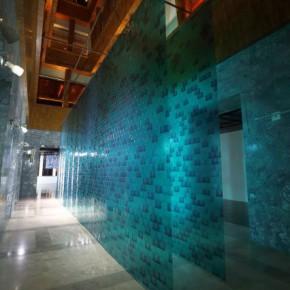 "Kuribayashi Takashi Water Wall 2012 installation 4000x10000mm 290x290 - Shanghai Gallery of Art presents ""REVERSE: Takashi Kuribayashi"""