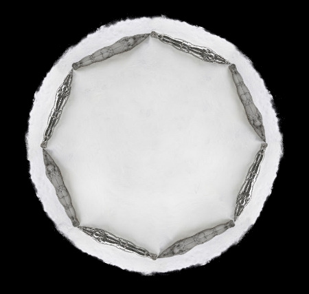 Shi Zhongying, Reincarnation, 2014; Stainless steel, Diameter 190cm