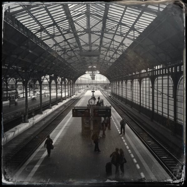 Zender, The Central station-Lubeck, Germany, 30x30cm, 2013