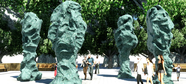 """Public Art Fund presents """"Blind Portraits"""" by Sui Jianguo for the first time in the United States"""