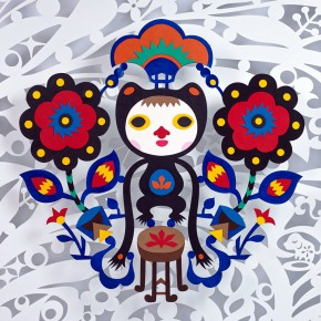 0003 JamWu x Hermes Petit h collection PAPER CUT DOLL – Beating The Frog DrumHermes Leather 2014 photographyMiing Studio 290x290 - PAPER-CUT Series– A Collection of Art created by Jam Wu with Hermès Materials