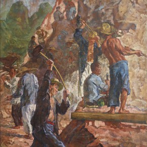 01 Feng Fasi Stories of Hongpiaoxi 1943 Oil on canvas 44.5x61cm 290x290 - Retrospect Exhibition of Mr. Feng Fasi: Cutting Mountain Paths Opening Nov. 29 at CAFAM