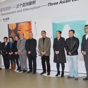 """01 Group photo of guests at the opening ceremony 290x290 - """"Modernity: Transmission and Alternation Three Asian Cases"""" Documenta opened at Today Art Museum"""