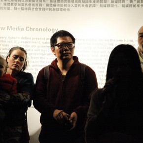 "02 View of the opening ceremony of the exhibition 290x290 - From ""Knowledge"" to ""Practice"": ""Chronology of New Media Art"" Exhibition that opened in Sichuan Fine Arts Institute"