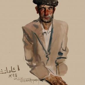 "04 Li Xiaolin ""Amanxia from Tajik"" watercolor 54 x 48 cm 2011 290x290 - ""Face & Looks"" Exhibition featuring works by Li Xiaolin opened at Dacheng Art Gallery"