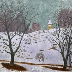 """04 Sudhoff Васи́лий, """"Winter Snow"""", oil on canvas, 65 x 70 cm, 2006"""