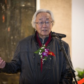 """04 View of the Opening ceremony and honored guests spoke 290x290 - """"Pursuit of Beauty–Wen Lipeng Works Exhibition"""" grandly opened at the Chinese Academy of Oil Painting"""