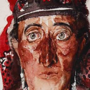 "05 Li Xiaolin ""Tajik Woman"" watercolor 54 x 48 cm 2011 290x290 - ""Face & Looks"" Exhibition featuring works by Li Xiaolin opened at Dacheng Art Gallery"