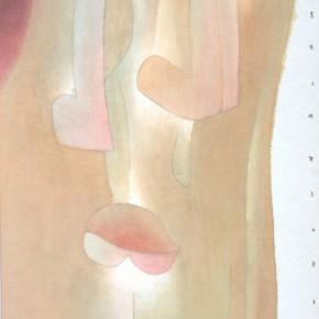"""05 Lu Fusheng """"The Beautiful Person"""" colored ink 252 x 120 cm 2014 290x290 - """"Between the Visible and Imagination"""" Lu Fusheng Art Exhibition Grandly opened at Jiangsu Art Museum"""