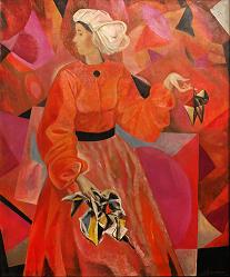 "05 Melnikova V.A., ""The Festival"", oil on canvas, 120 x 100 cm, 2009"