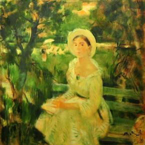 """06 Melnikov A.A, """"In the Garden"""", oil on canvas, 100 x 100 cm, 2007"""