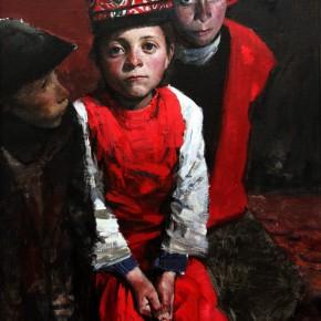 "07 Li Xiaolin ""Pamir Children"" oil painting 150 x 80 cm 2011 290x290 - ""Face & Looks"" Exhibition featuring works by Li Xiaolin opened at Dacheng Art Gallery"