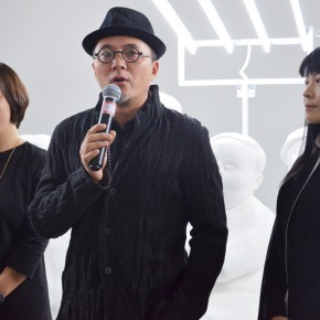 07 Qu Guangci addressed at the opening ceremony 290x290 - Qu Guangci Solo Exhibition: Northernmost Country Unveiled at Today Art Museum