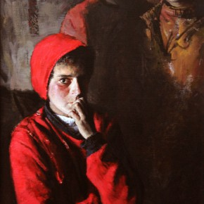 """08 Li Xiaolin """"The Stranger"""" oil painting 150 x 80 cm 2011 290x290 - """"Face & Looks"""" Exhibition featuring works by Li Xiaolin opened at Dacheng Art Gallery"""