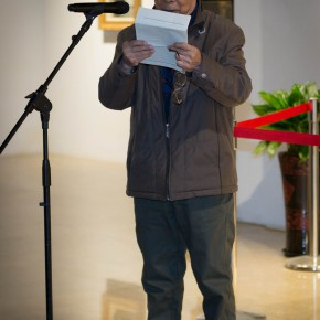 """08 Wen Lipeng addressed the opening ceremony 290x290 - """"Pursuit of Beauty–Wen Lipeng Works Exhibition"""" grandly opened at the Chinese Academy of Oil Painting"""