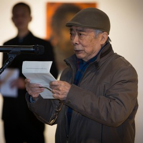 """09 Wen Lipeng addressed the opening ceremony 290x290 - """"Pursuit of Beauty–Wen Lipeng Works Exhibition"""" grandly opened at the Chinese Academy of Oil Painting"""