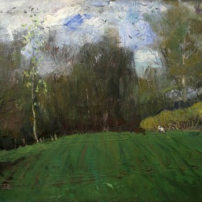 "10 Belyaev D.V., ""Spring"", oil on canvas, 49.5 x 69.5 cm, 1970"