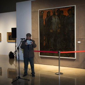 """10 Wen Lipeng addressed the opening ceremony 290x290 - """"Pursuit of Beauty–Wen Lipeng Works Exhibition"""" grandly opened at the Chinese Academy of Oil Painting"""