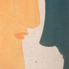 "11 Lu Fusheng blue and orange ink painting 252 x 125 cm 2014 290x290 - ""Between the Visible and Imagination"" Lu Fusheng Art Exhibition Grandly opened at Jiangsu Art Museum"