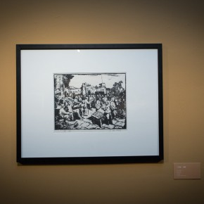 "12 Yan Han ""The Bean Election"" monochrome on board37 x 29 cm 1948 290x290 - ""Merging – From National Beiping Art School, Yan'an Luxun Academy of Literature and Art to CAFA (1946-1953)"" opened at CAFAM"