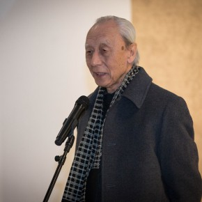 """12 Zhan Jianjun addressed the opening ceremony 290x290 - """"Pursuit of Beauty–Wen Lipeng Works Exhibition"""" grandly opened at the Chinese Academy of Oil Painting"""