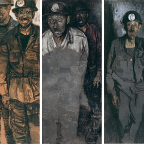 """14 Li Xiaolin """"The Miners of Light"""" pastel 110 x 130 cm 2009 290x290 - """"Face & Looks"""" Exhibition featuring works by Li Xiaolin opened at Dacheng Art Gallery"""