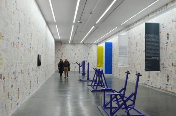 """18  Installation view of """"Polit-Sheer-Form Fitness for All"""""""