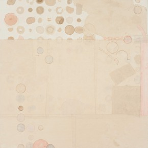 "18 Liang Quan, ""Cold Spring No.3"", tea, colors, ink, rice paper collage, 122 x 92 cm, 2013"