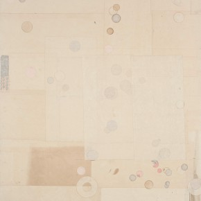"19 Liang Quan, ""Cold Spring No.2"", tea, colors, ink, rice paper collage, 122 x 92 cm, 2013"
