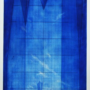 "20 Peng Yong ""The Building to Reach the Sky"" etching 100 x 50 cm 290x290 - YISHU 8 China Award in the 2nd Round – Peng Yong's Solo Exhibition ""The Blues"" opened"