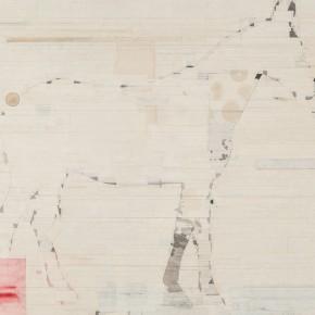 "40 Liang Quan ""The Swift Horse"" tea colors ink rice paper collage 90 x 120 cm 2011  290x290 - Liang Quan"