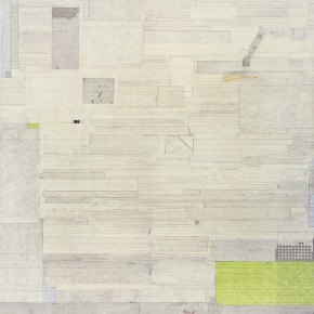 "46 Liang Quan, ""Sailing~Afar 2010-2 Two Pieces"", ink, colors, rice paper collage on linen, 200 x 150 cm, 2010 (part 2)"