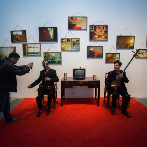 "53 Hu Liu, ""Xin Tian You (A Kind of Shanxi Local Melody)"", mixed media installation"
