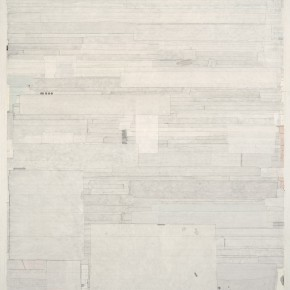 "53 Liang Quan, ""Eight Views of Xiaoxiang No.7"", tea, colors, ink, rice paper collage, 125 x 90 cm, 2010"