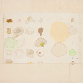 "70 Liang Quan ""Untitled"" tea color ink rice paper collage 48 x 63 cm 2007 290x290 - Liang Quan"