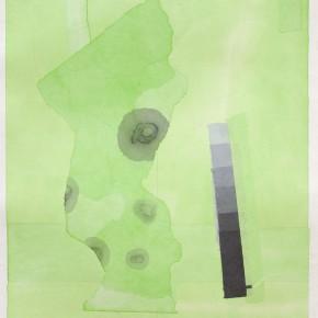 """73 Liang Quan """"Garden"""" tea color ink rice paper mixed techniques 44 x 34 cm 2000 290x290 - Liang Quan"""